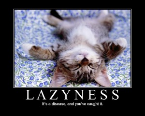 Laziness Spelled Wrong