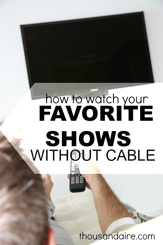 Sick of your cable bill but want to keep your favorite shows? I've got four alternatives plus an awesome eliminating cable rap video for ya!
