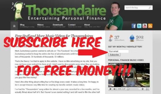 Enter Thousandaire Giveaway