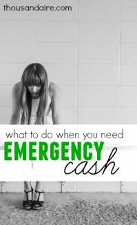 When you need cash in a hurry, here are a few options to get the money you need. What you should do will depend on your own personal situation.