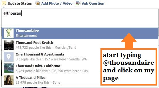 Thousandaire Facebook Page