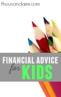 One day I'll probably have kids. When I have them, I'm going to give them a bunch of financial advice and make sure they earn everything they get.