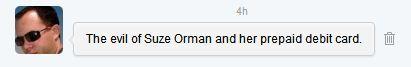 tweet about suze orman