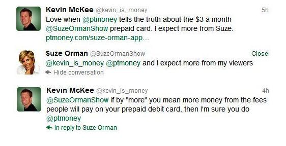 Suze Orman Twitter Conversation