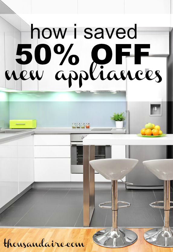 This one trick helped my wife and I to save a whopping fifty percent off a brand new refrigerator and another thirty eight percent off a range!