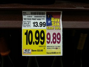 10 percent off wine