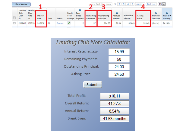 Lending Club Calculator