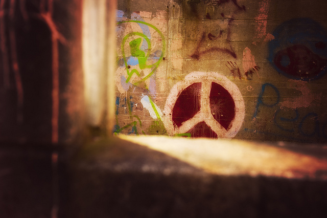 peace on the wall