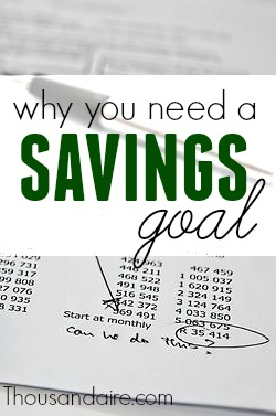 Are you having a hard time saving money? My wife and I were in a similar situation just a couple months ago. But after setting a goal everything turned around for us.