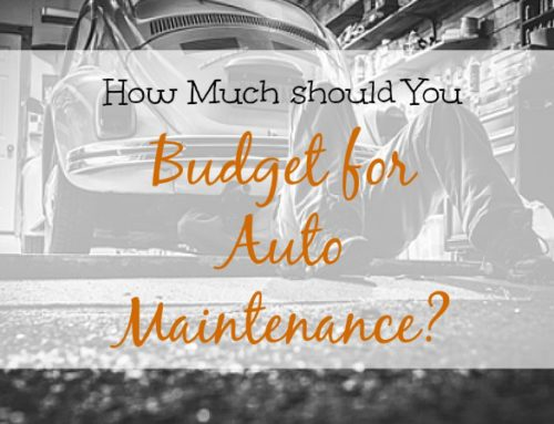 How much to budget for auto maintenance