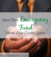 helping your credit score, credit score tips, emergency fund advantages
