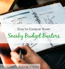 budgeting tips, budgeting advice, budget busters