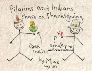 What the Pilgrims gave the Native Americans