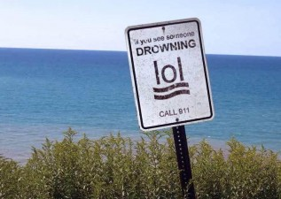 drowning lol