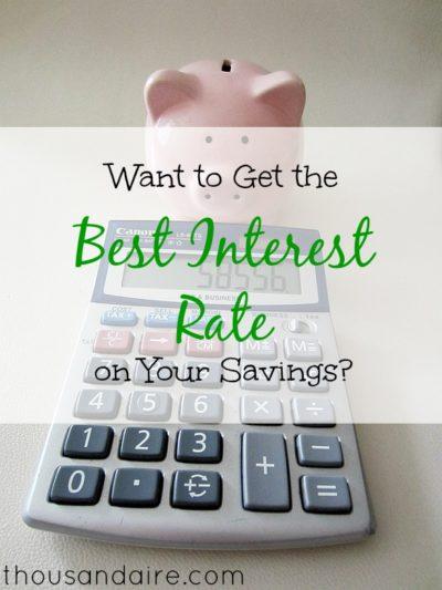 best interest rate for savings, savings rate tips, savings tips