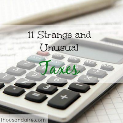 strange taxes, unusual taxes, kinds of taxes