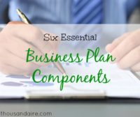 business plan, components of a business plan, business tips