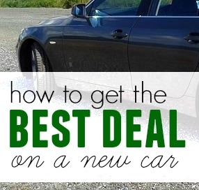 best car deal, getting a new car tips, purchasing a new car