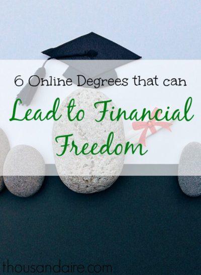 financial freedom, online degrees, financial wellness