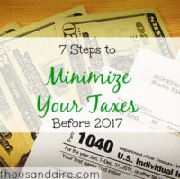 minimizing taxes, tax tips, tax advice