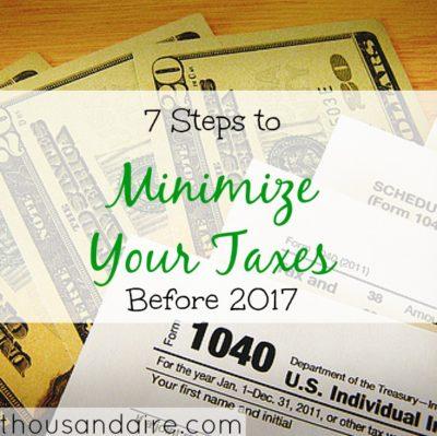minimizing taxes, tax tips, tax advice