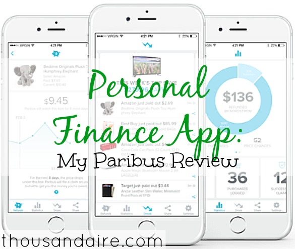 personal finance app, paribus review, online saving app
