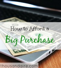 tips to afford a big purchase, advice on big purchases, big purchase tips